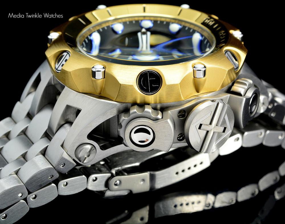 Invicta 16807 Reserve 52MM VENOM Hybrid Gold 5040F Swiss Quartz Chrongraph Bracelet Watch | Free Shipping