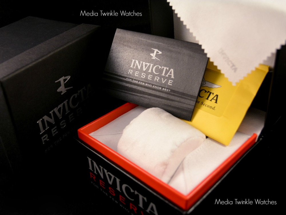 Invicta 16969 Reserve 52mm Hydromax Black Dial Blue Bezel Quartz GMT Bracelet Watch | Free Shipping