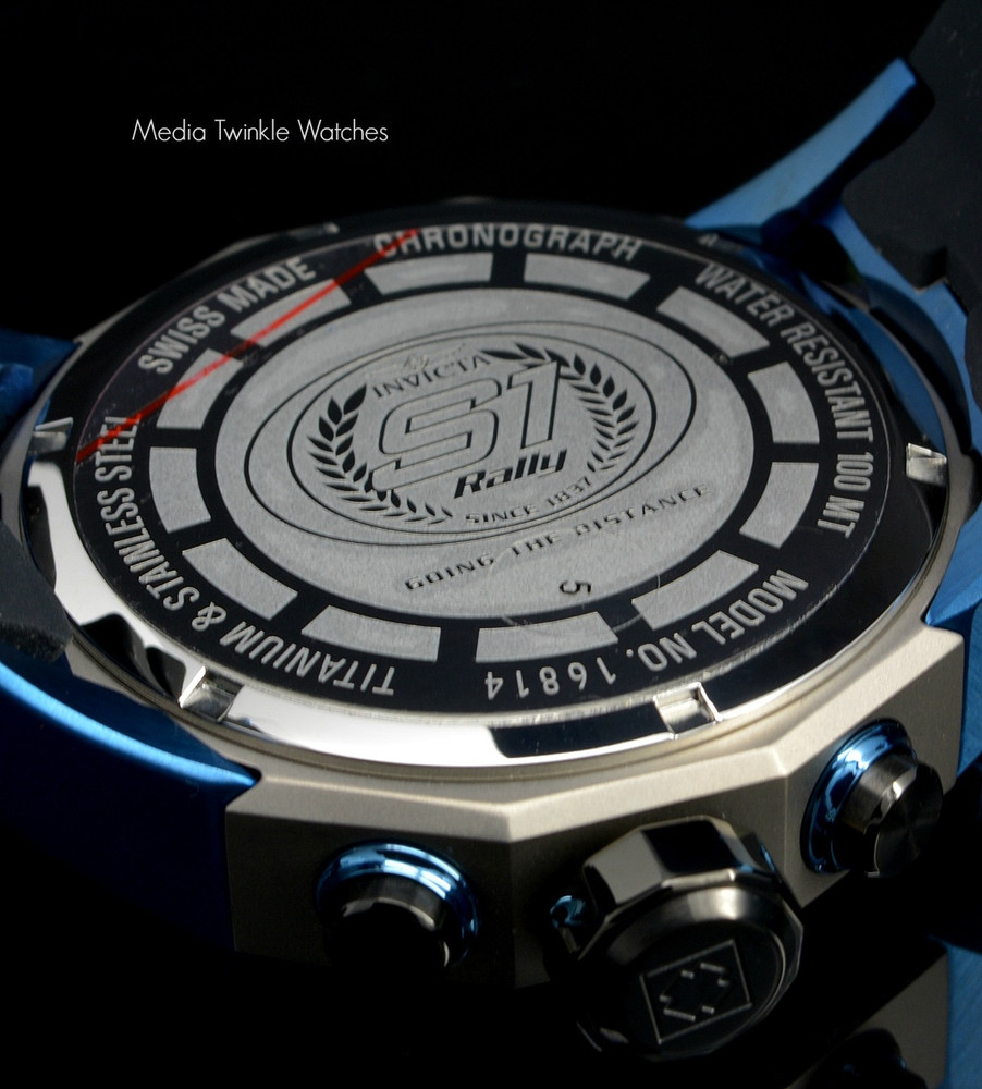 Invicta 16814 S1 Rally 50mm Swiss Made 5040.D Swiss Quartz Chronograph TITANIUM Case Watch   Free Shipping