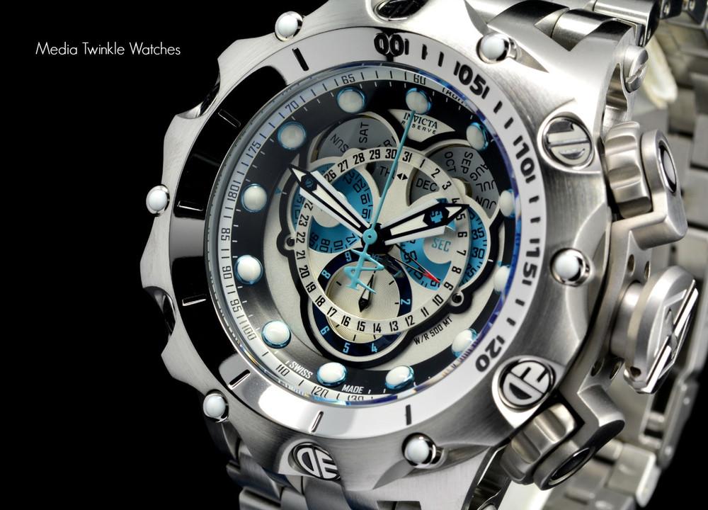 Invicta 16803 Reserve 52MM VENOM Hybrid Silver Tone 5040F Swiss Quartz Chronograph Bracelet Watch | Free Shipping