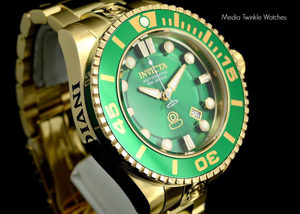 Invicta 19805 Grand Diver 2 Gen II 47mm Automatic Green Bezel Stainless Steel Bracelet Watch | Free Shipping