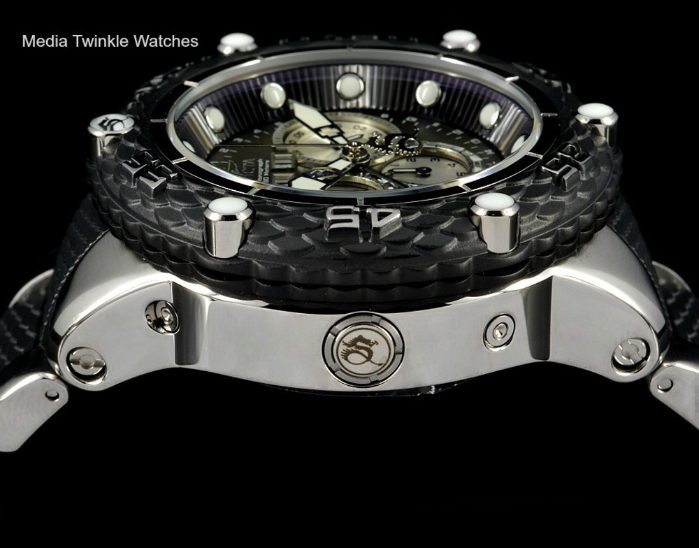 Invicta 21673 Subaqua Noma VI Swiss Quartz Chronograph Black & Silver Bracelet Watch