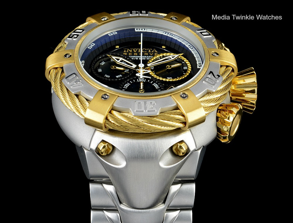 Invicta 21355 Reserve 56mm Thunderbolt Swiss Quartz Chronograph Rose Tone & Silver Bracelet Watch