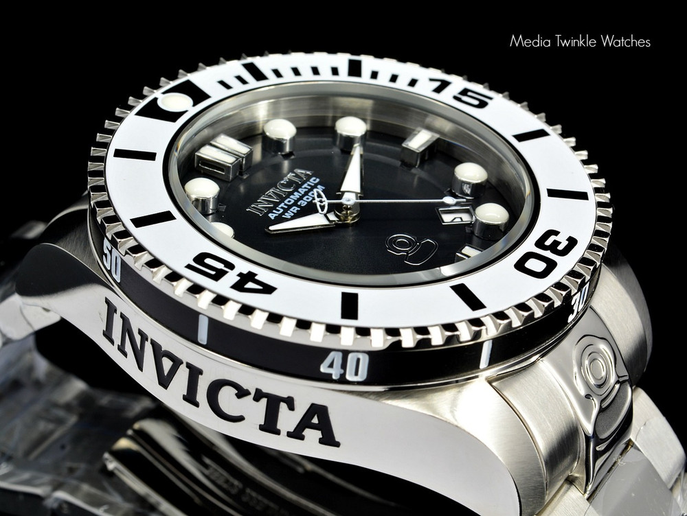Invicta 20172 Grand Diver 2 Gen II 47mm Automatic Charcoal Dial White Bezel Bracelet Watch | Free Shipping