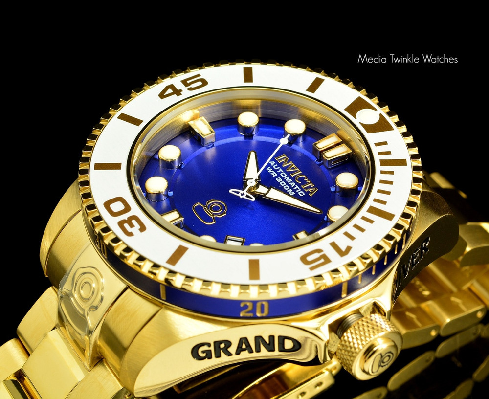 Invicta 20177 Grand Diver 2 Gen II 47mm Automatic Blue Dial Gold Tone Bracelet Watch | Free Shipping