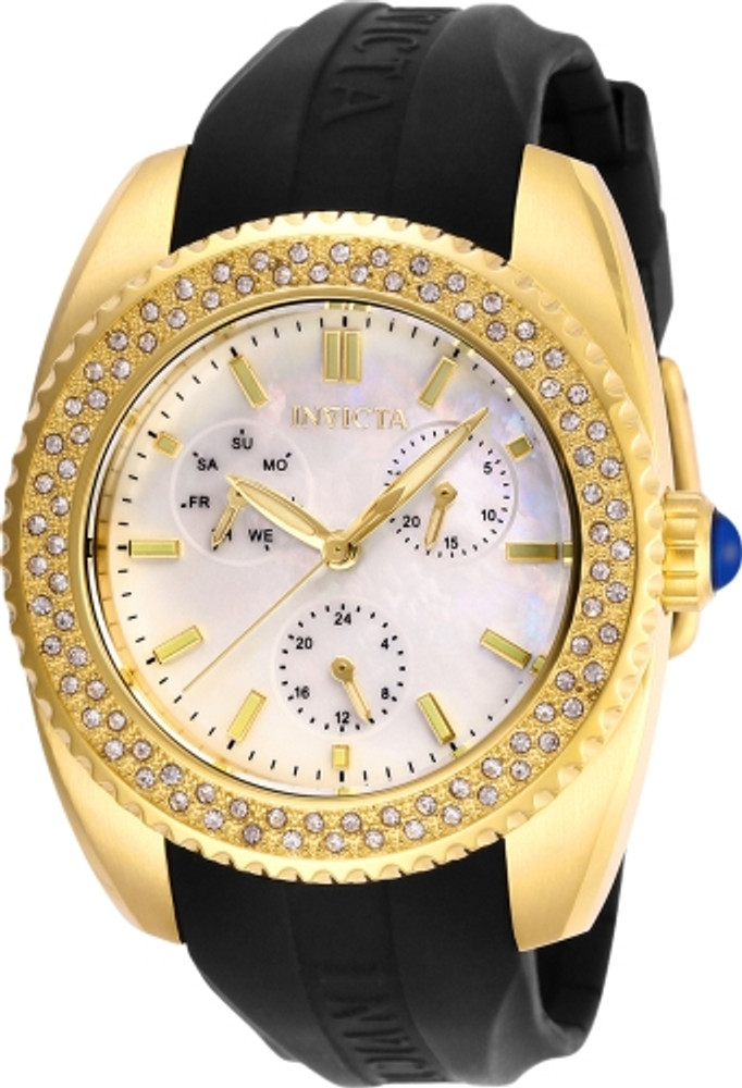 Invicta Angel Crystal White Mother of Pearl Dial Ladies Watch
