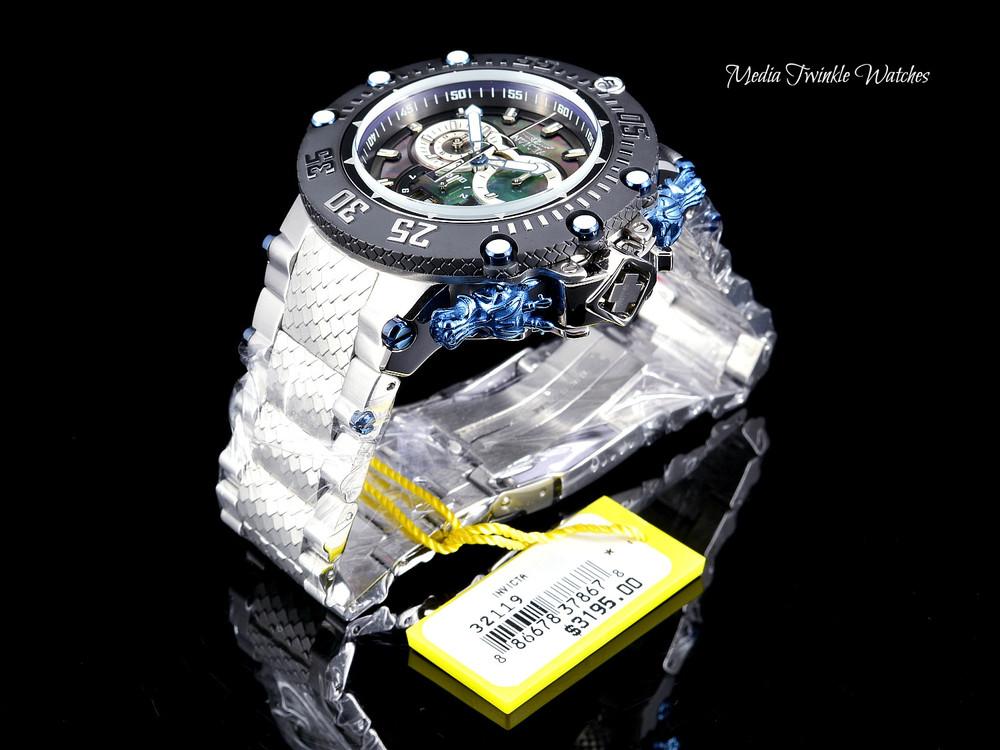 Invicta Men's 52mm Subaqua Noma VII Swiss Quartz Chronograph Black MOP Bracelet Watch