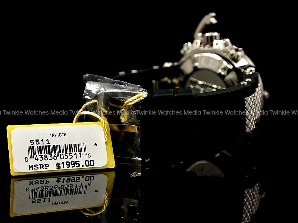 Invicta 5511 Subaqua Noma III Swiss Quartz Chronograph Black Dial Polyurethane Strap Watch   Free Shipping