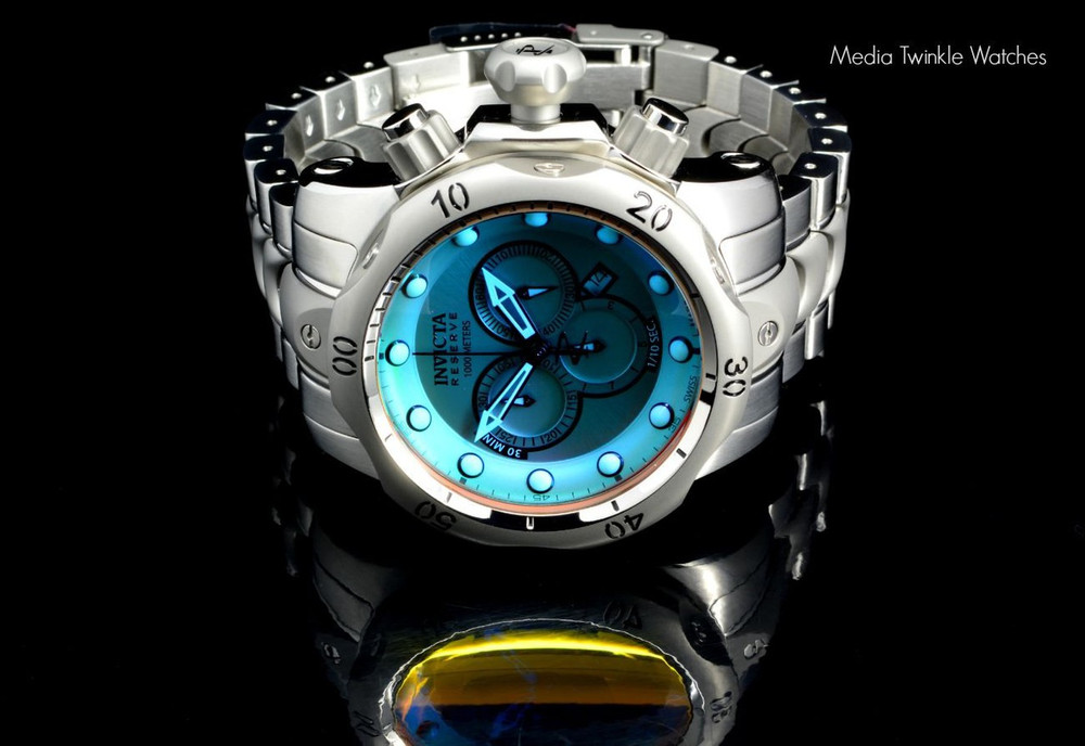 Invicta 0967 Reserve Men's Venom Chronograph Tinted Crystal Stainless Steel Bracelet Watch | Free Shipping