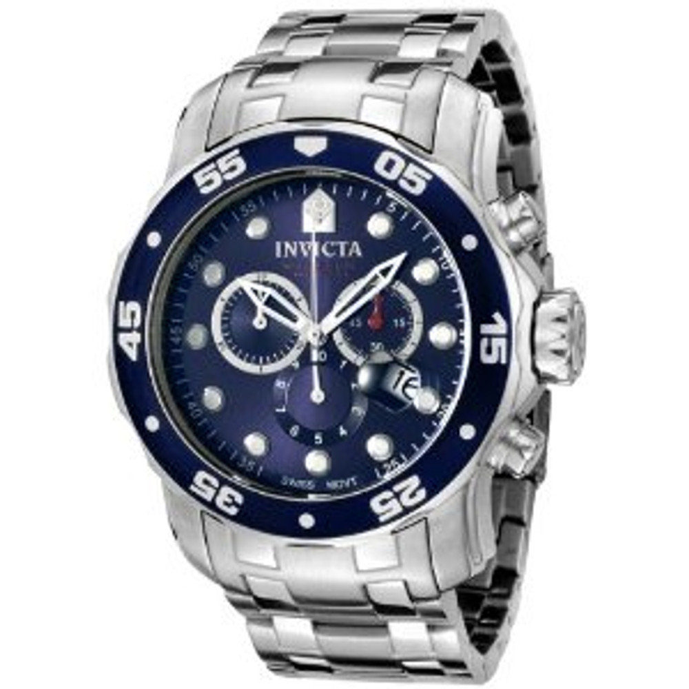 Invicta 0070 Pro Diver Collection Chronograph Stainless Steel Watch | Free Shipping
