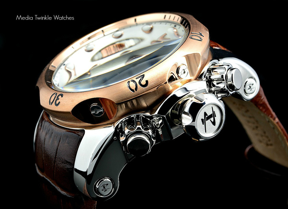 Invicta 0359 Reserve Venom Collection Chronograph Brown Leather Watch | Free Shipping