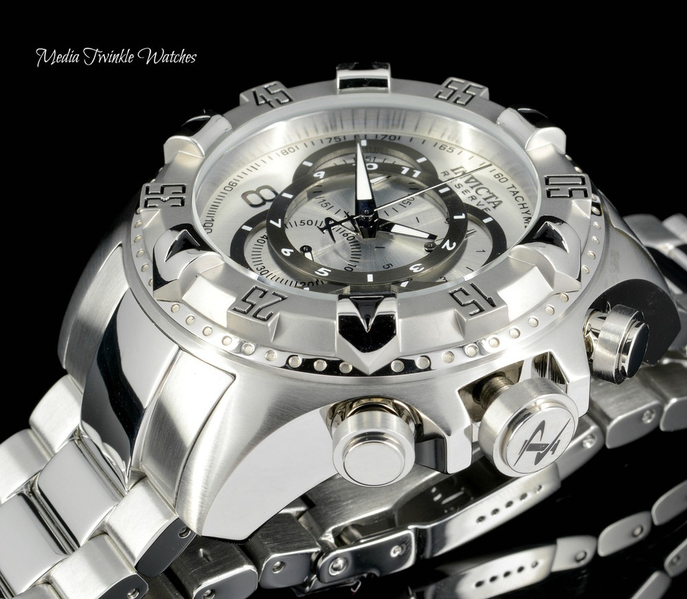 Invicta 5525 Reserve Excursion Swiss Quartz Chronograph Touring Edition Silver Dial Stainless Steel Watch | Free Shipping