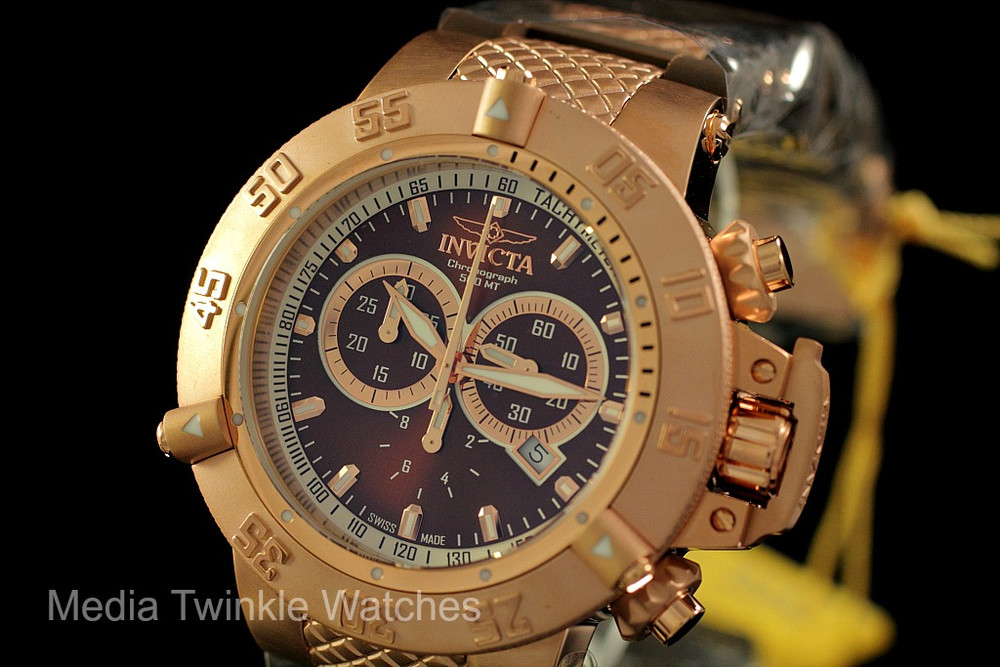 Invicta 5510 Subaqua Noma III Swiss Quartz Chronograph Brown Dial Brown Polyurethane Strap Watch | Free Shipping