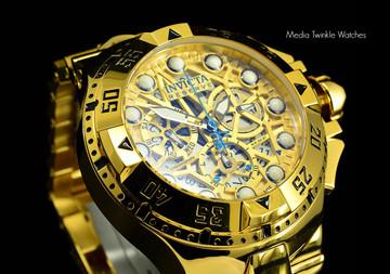 Invicta 15980 Reserve Excursion II z60 Swiss Quartz Chronograph Gold Bracelet Watch   Free Shipping