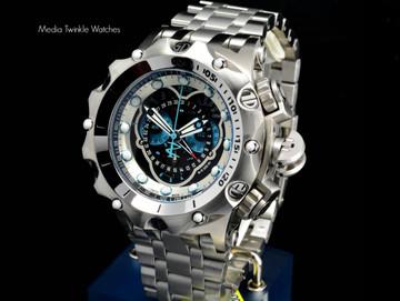 Invicta 16802 Reserve 52MM VENOM Hybrid Silver Tone 5040F Swiss Quartz Chronograph Bracelet Watch   Free Shipping