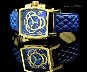 Invicta 17008 S1 Collection Swiss Made Chronograph Blue Leather Strap Watch   Free Shipping