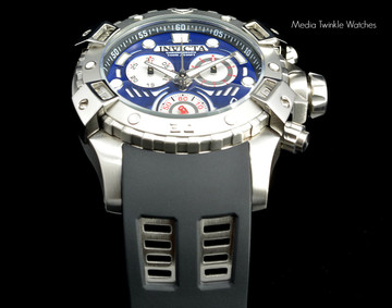 Invicta 18858 Sea Thunder 48mm Specialty Blue Dial Silver Bezel Swiss Quartz Chronograph Watch   Free Shipping
