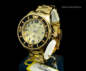 Invicta 19807 Grand Diver 2 Gen II 47mm Automatic Gold Stainless Steel Bracelet Watch | Free Shipping