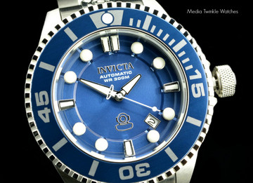 Invicta 19799 Grand Diver 2 Gen II 47mm Automatic Blue Dial Blue Bezel Stainless Steel Bracelet Watch   Free Shipping