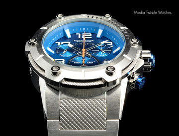 Invicta 19527 Speedway XL Teal Blue Dial Swiss Parts Chronograph Silver Bracelet Watch | Free Shipping