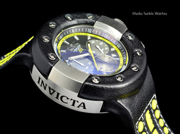 Invicta 19177 S1 Rally Leather 52mm Quartz Chronograph Stainless Steel & Leather Case Watch   Free Shipping