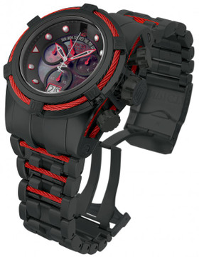 Invicta 16001 Jason Taylor Reserve Zeus Bolt Limited Edition Black M.O.P Dial Bracelet Watch w/3 Slot Dive Case | Free Shipping