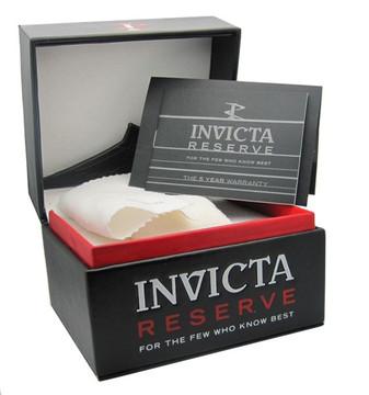 Invicta 21344 Reserve 52mm Thunderbolt Swiss Made Quartz Chronograph Silver & Black Bracelet Watch