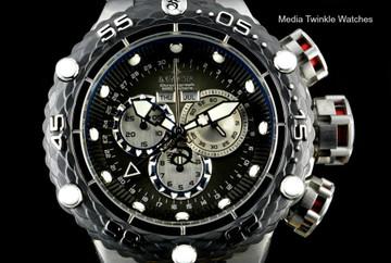 Invicta 21673 Subaqua Noma VI Swiss Quartz Chronograph Black & Silver Bracelet Watch