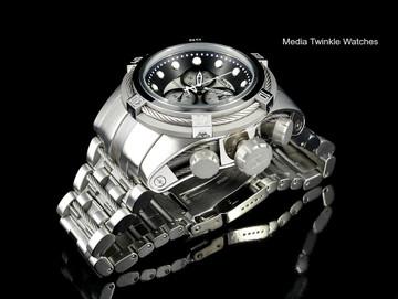 Invicta 21801 Reserve Bolt Zeus Swiss Quartz Chronograph Silver Tone Dial Bracelet Watch   Free Shipping
