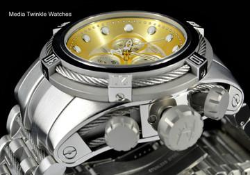 Invicta 21804 Reserve Bolt Zeus Swiss Quartz Chronograph Gold Tone Dial Bracelet Watch | Free Shipping