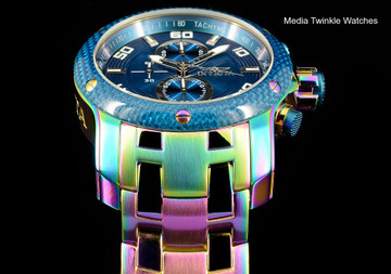 Invicta 24158 ProDiver 48mm Blue Dial Iridescent Finish Bracelet Watch