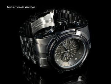 Invicta Bolt Zeus Swiss Quartz Chronograph Combat Black Stainless Steel Bracelet Watch 23915