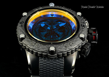 Invicta 50mm Subaqua Noma VI Black Quartz Chronograph Master Calender TINTED CRYSTAL Bracelet Watch 25426