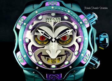Invicta 52MM Reserve VENOM JOKER DC SWISS Quartz Ltd Edition Bracelet Watch - 30124