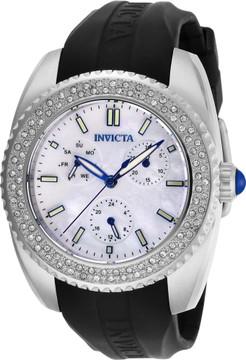 Invicta 28487 Women's Angel Quartz Multi Function Mother-of-Pearl Strap Watch w/1 Slot Dive Case