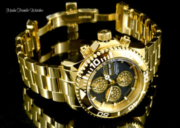 Invicta 47mm Reserve Pro Diver Limited Edition SWISS AUTOMATIC 0.42ctw Diamond Gold Bracelet Watch
