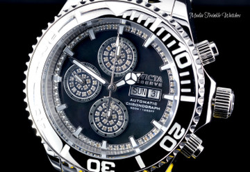 Invicta 47mm Reserve Pro Diver Limited Edition SWISS AUTOMATIC 0.42ctw Diamond All Silver Bracelet Watch 28884