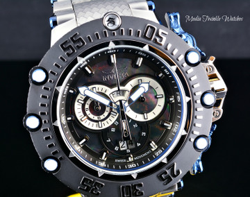 Invicta Men's 52mm Subaqua Noma VII Swiss Quartz Chronograph Black MOP Bracelet Watch