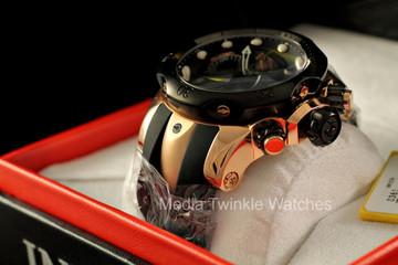 Invicta 0361 Men's Reserve Venom Collection Chronograph Black Polyurethane Watch | Free Shipping