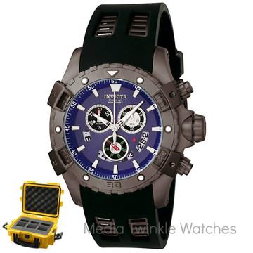 Invicta 6328 Sea Thunder Specialty Swiss Quartz Chronograph Watch w/3 Slot Dive Case   Free Shipping