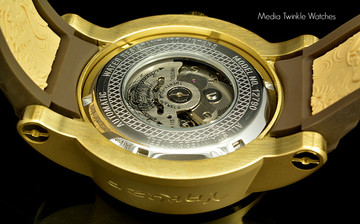Invicta 12790 S1 Dragon Gold Dial Automatic Stainless Steel Case Silicone Strap Watch | Free Shipping