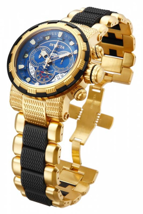 Invicta 80301 Reserve Capsule Swiss Quartz Chronograph Blue Dial Two-Tone Stainless Steel Watch | Free Shipping