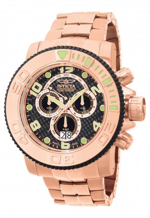 Invicta 10764 Men's Pro Diver Collection Sea Hunter Rose Tone Chronograph Stainless Steel Watch | Free Shipping