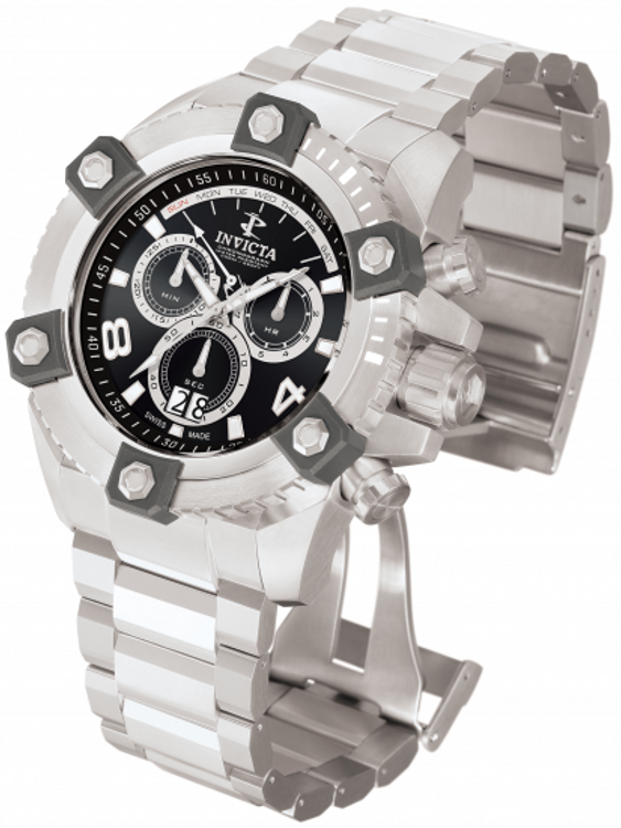 Invicta 0335 Reserve Men's Arsenal Swiss Big Date Stainless Bracelet Watch | Free Shipping