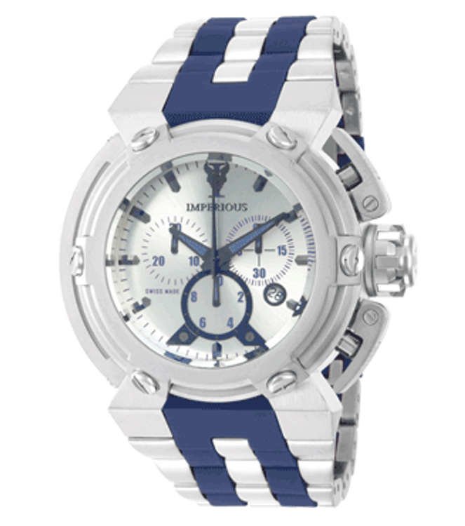 Imperious IMP1074  Men's X-Wing Swiss Made Quartz Chronograph Stainless Steel Bracelet Watch | Free Shipping