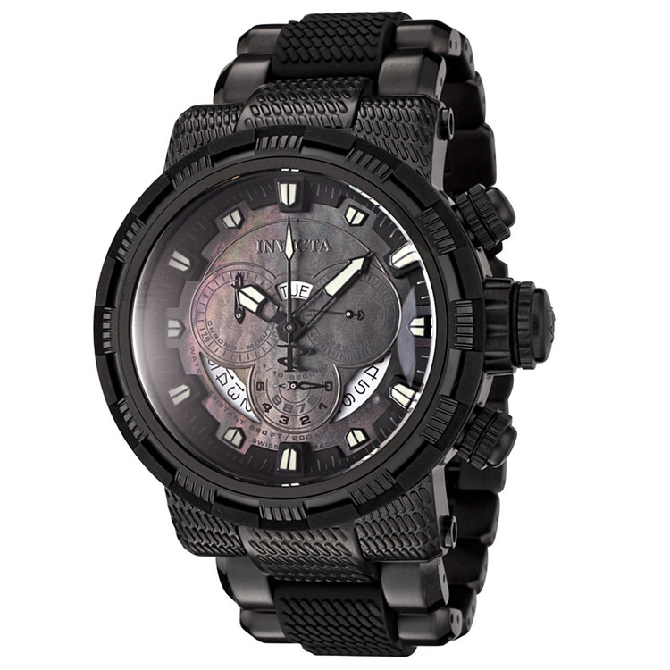 Invicta 6664 Reserve Capsule Swiss Quartz Chronograph All Black Stainless Steel Watch | Free Shipping