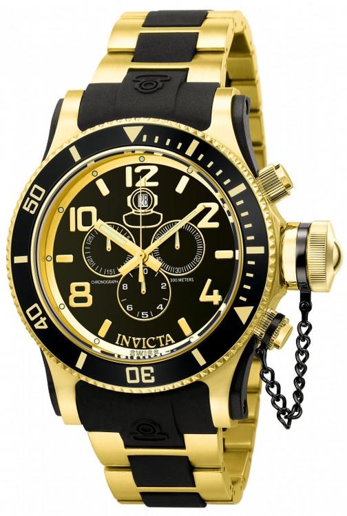 Invicta 6633 Men's Russian Diver Scuba Swiss Quartz 18K Gold-Plated Watch | Free Shipping