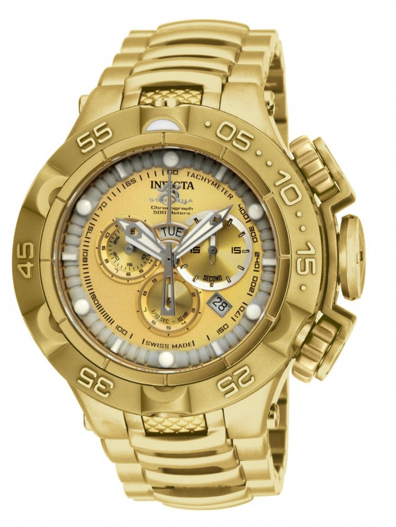 Invicta 15919 Men's Subaqua Noma V All Gold Edition Swiss Made Quartz Chronograph Stainless Steel Bracelet Watch | Free Shipping
