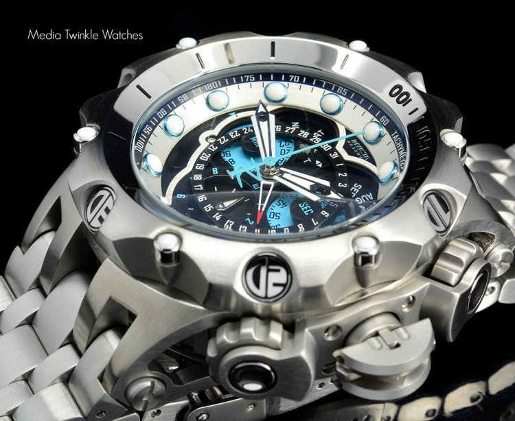 Invicta 16802 Reserve 52MM VENOM Hybrid Silver Tone 5040F Swiss Quartz Chronograph Bracelet Watch | Free Shipping