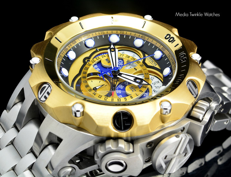 Invicta 16807 Reserve 52MM VENOM Hybrid Gold 5040F Swiss Quartz Chrongraph Bracelet Watch | Free Shipping